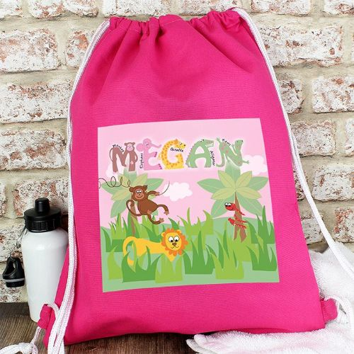 Personalised Animal Alphabet Girls Kit Bags